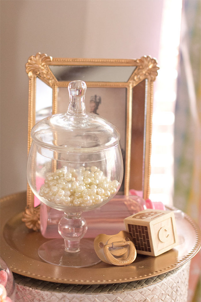 decor from an elegant princess baby shower via kara 39 s party ideas