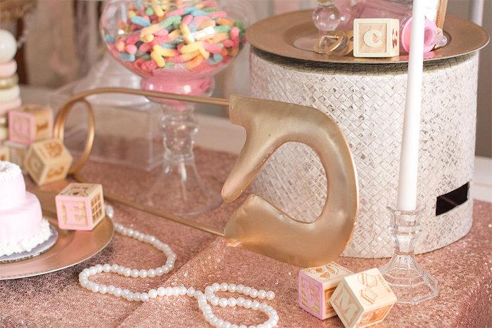Decor From An Elegant Princess Baby Shower Via Karau0027s Party Ideas |  KarasPartyIdeas.com (