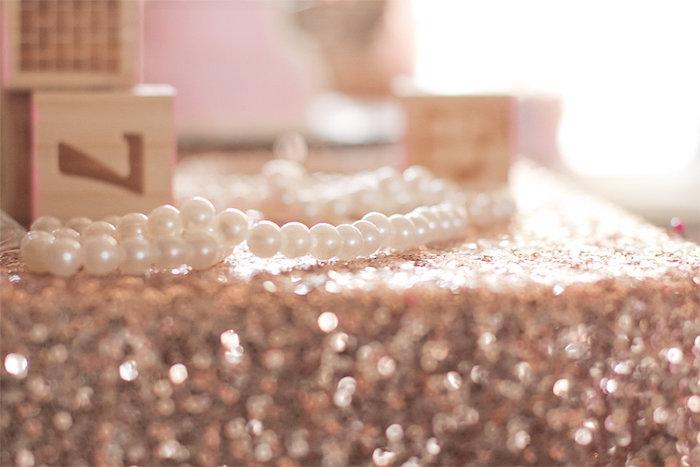 Pearls from an Elegant Princess Baby Shower via Kara's Party Ideas | KarasPartyIdeas.com (17)