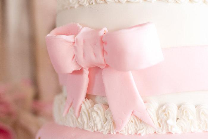 Cake Detail from an Elegant Princess Baby Shower via Kara's Party Ideas | KarasPartyIdeas.com (13)