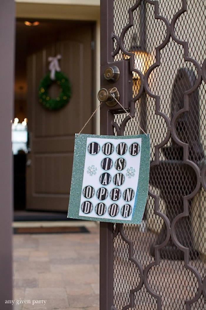 Sign + Entrance to a Frozen Birthday Party via Kara's Party Ideas | KarasPartyIdeas.com (10)