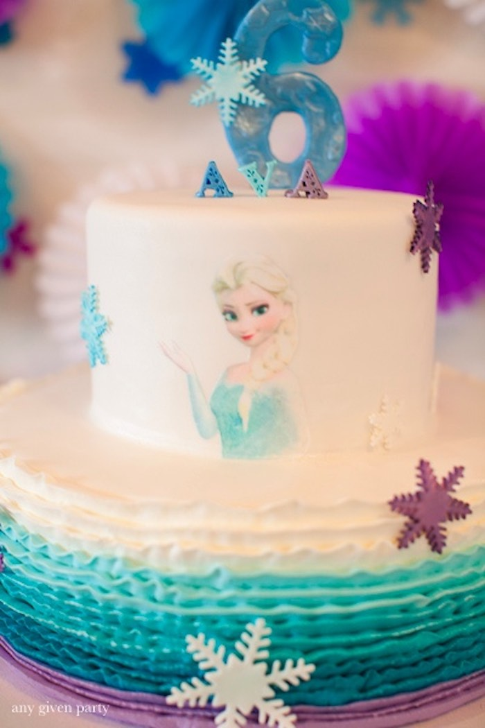 Cake from a Frozen Birthday Party via Kara's Party Ideas | KarasPartyIdeas.com (6)