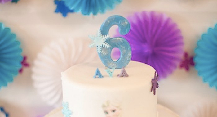Cake Detail from a Frozen Birthday Party via Kara's Party Ideas | KarasPartyIdeas.com (1)
