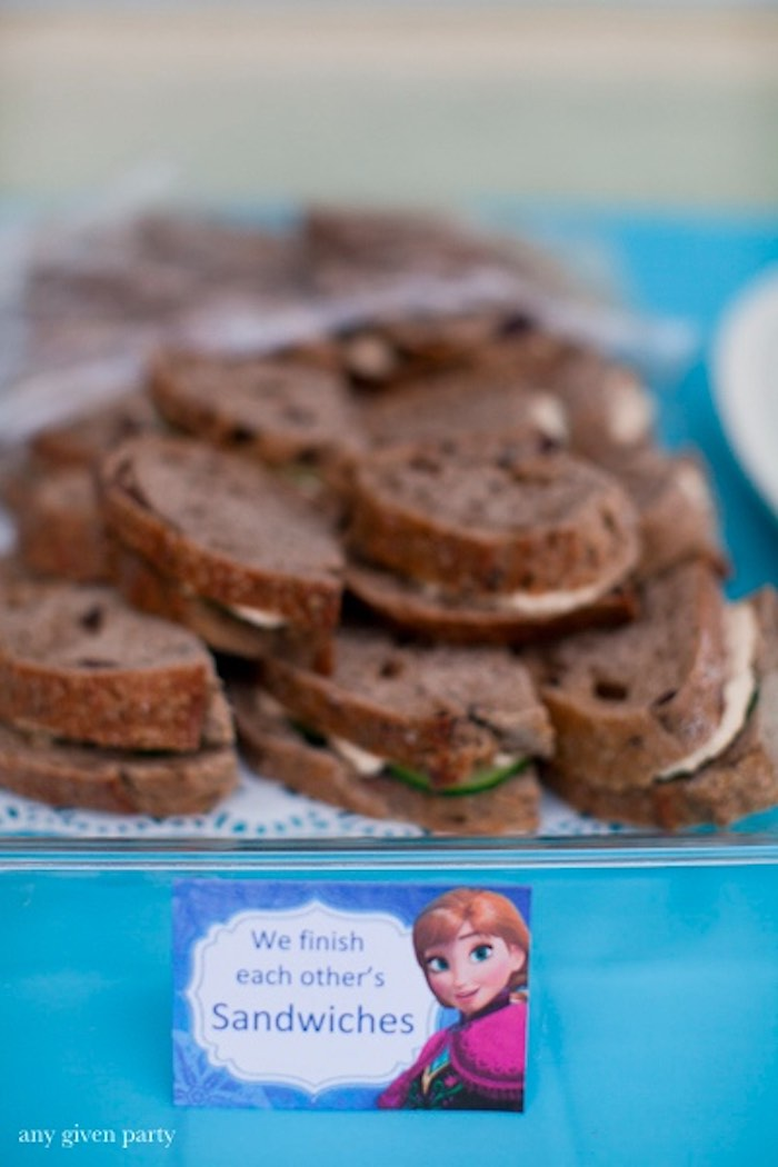 Sandwiches from a Frozen Birthday Party via Kara's Party Ideas | KarasPartyIdeas.com (17)