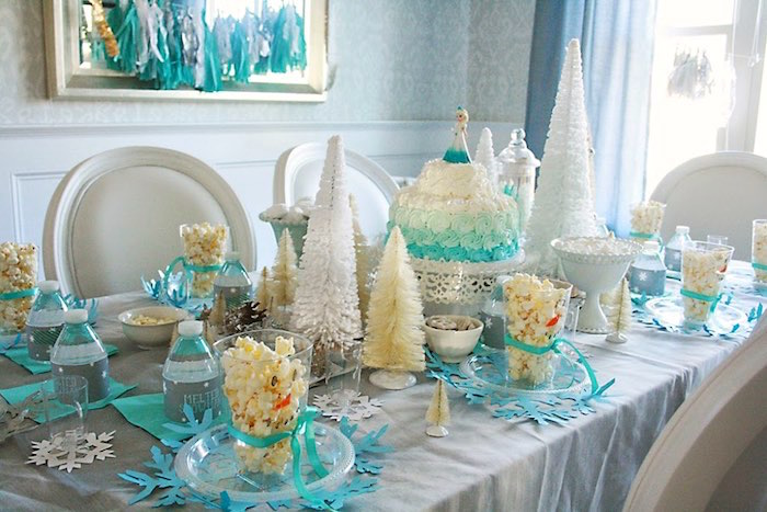 Full Tablescape from a Frozen Hot Chocolate Birthday Party via Kara's Party Ideas | KarasPartyIdeas.com | The Place for All Things Party! (5)