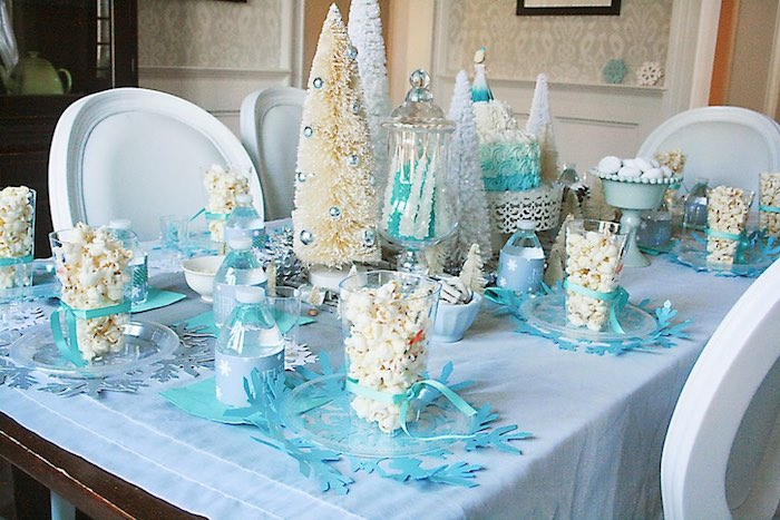 Party Table from a Frozen Hot Chocolate Birthday Party via Kara's Party Ideas | KarasPartyIdeas.com | The Place for All Things Party! (4)