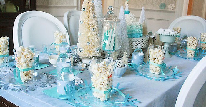 Tablescape from a Frozen Hot Chocolate Birthday Party via Kara's Party Ideas | KarasPartyIdeas.com | The Place for All Things Party! (1)