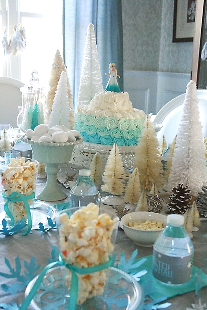 Party Setup from a Frozen Hot Chocolate Birthday Party via Kara's Party Ideas | KarasPartyIdeas.com | The Place for All Things Party! (10)