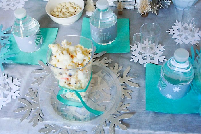 Place Setting from a Frozen Hot Chocolate Birthday Party via Kara's Party Ideas | KarasPartyIdeas.com | The Place for All Things Party! (7)