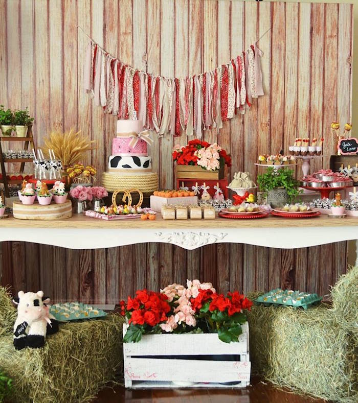 Girly Little Farm Birthday Party