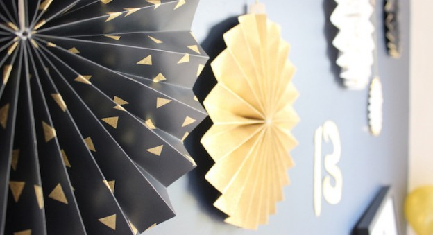 Paper Fans from a Glam Inspirational 13th Birthday Party via Kara's Party Ideas | KarasPartyIdeas.com (1)
