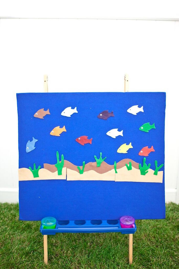 Activity Board from a Gone Fishing Birthday Party via Kara's Party Ideas | KarasPartyIdeas.com (35)