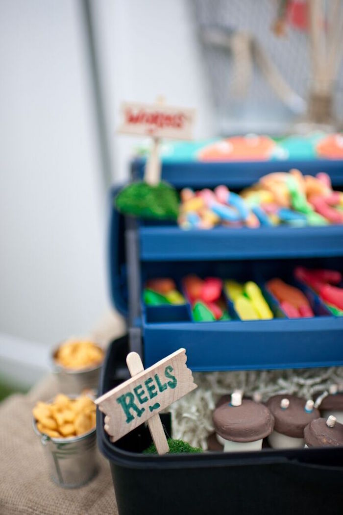 Fishing Reel Sweets from a Gone Fishing Birthday Party via Kara's Party Ideas | KarasPartyIdeas.com (33)