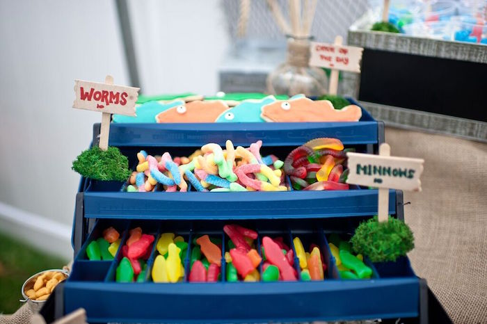 Kara's Party Ideas Colorful Gone Fishing Birthday Party | Kara's Party Ideas
