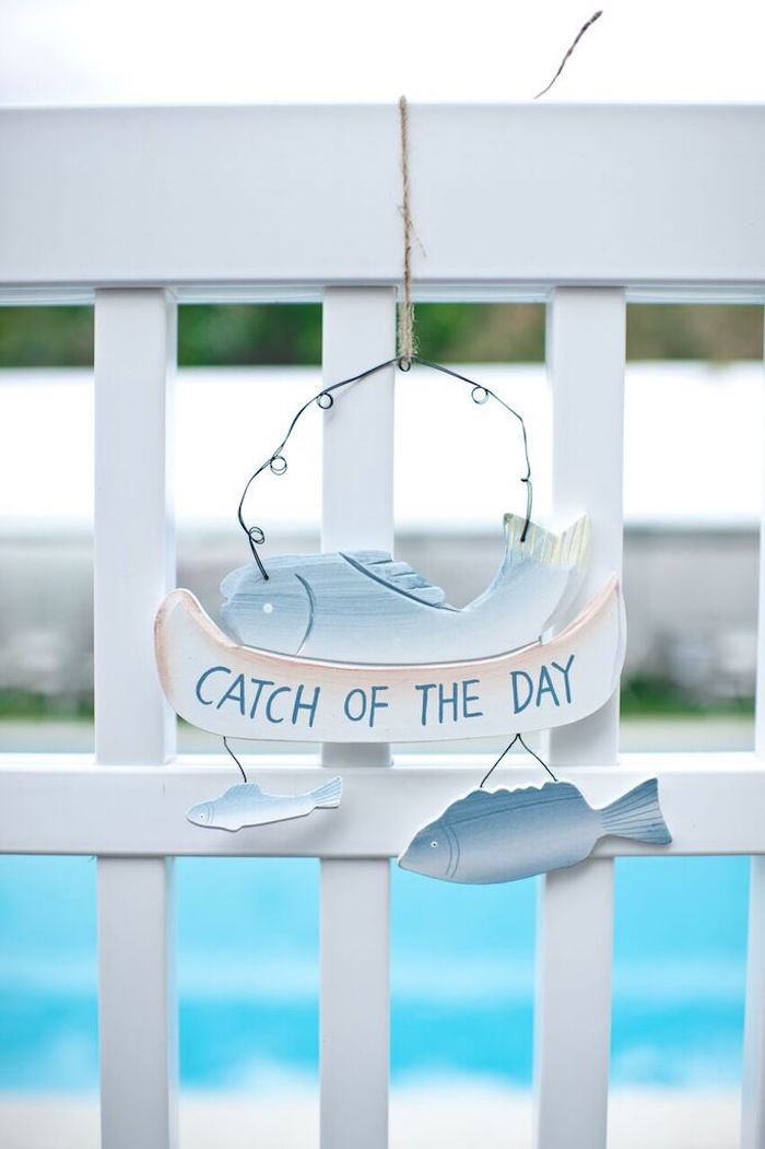 Sign from a Gone Fishing Birthday Party via Kara's Party Ideas | KarasPartyIdeas.com (25)