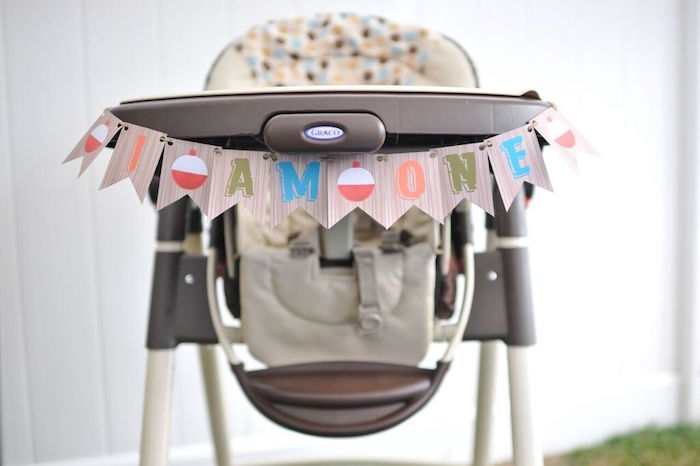 High Chair from a Gone Fishing Birthday Party via Kara's Party Ideas | KarasPartyIdeas.com (16)