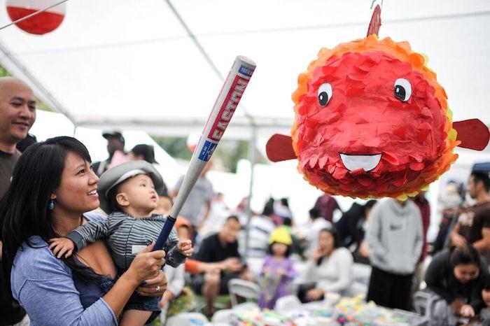 Fish Piñata from a Gone Fishing Birthday Party via Kara's Party Ideas | KarasPartyIdeas.com (50)