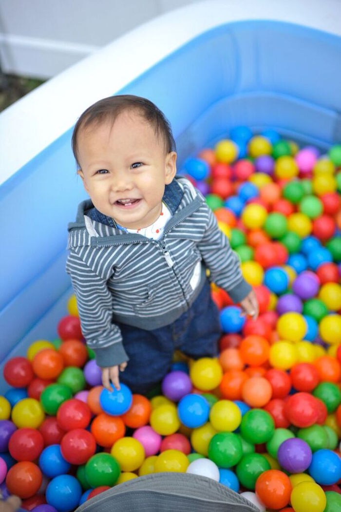 Ball Pit from a Gone Fishing Birthday Party via Kara's Party Ideas | KarasPartyIdeas.com (49)