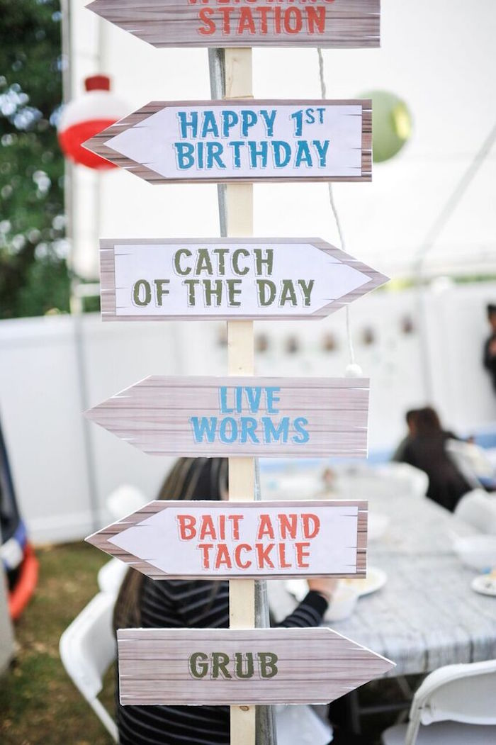 Kara S Party Ideas Colorful Gone Fishing Birthday Party