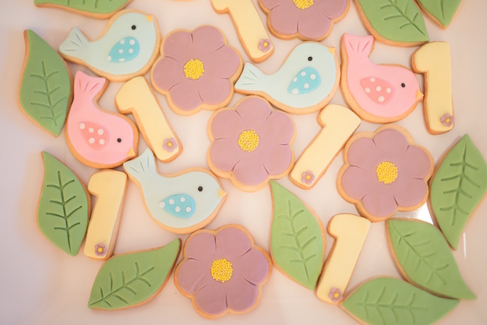 Cookies from a Little Bird Birthday Party via Kara's Party Ideas | KarasPartyIdeas.com (14)