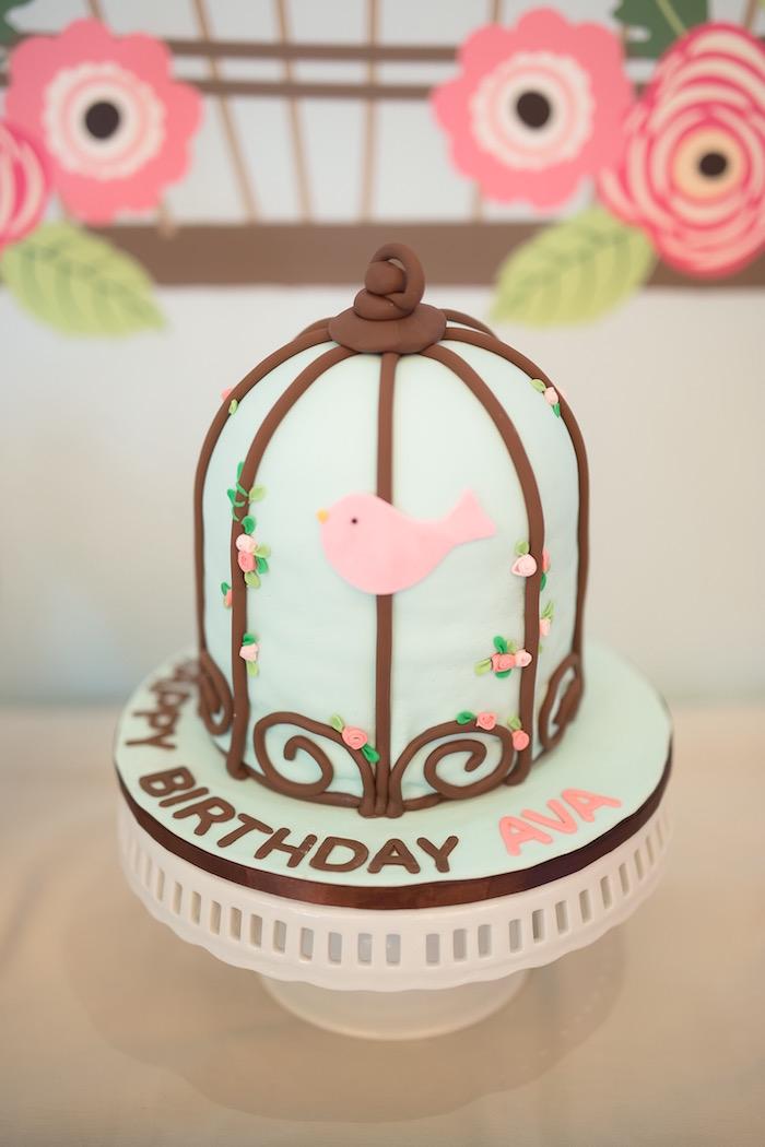 Birdcage Cake from a Little Bird Birthday Party via Kara's Party Ideas | KarasPartyIdeas.com (12)