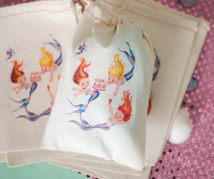 Custom Favor Sacks from a Magical Mermaid Birthday Party via Kara's Party Ideas! KarasPartyIdeas.com (13)