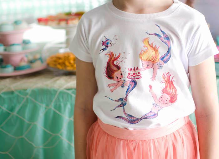 Custom Shirt from a Magical Mermaid Birthday Party via Kara's Party Ideas! KarasPartyIdeas.com (9)