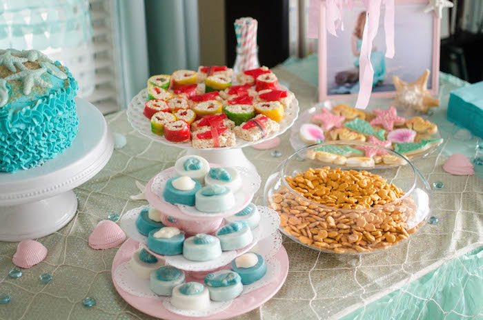 Sweets + Snacks from a Magical Mermaid Birthday Party via Kara's Party Ideas! KarasPartyIdeas.com (7)