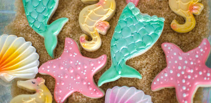 Cookies from a Magical Mermaid Birthday Party via Kara's Party Ideas! KarasPartyIdeas.com (1)