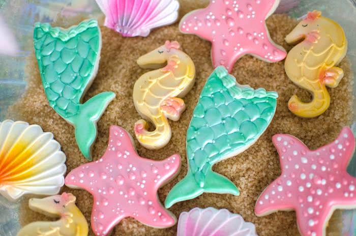 Cookies from a Magical Mermaid Birthday Party via Kara's Party Ideas! KarasPartyIdeas.com (21)