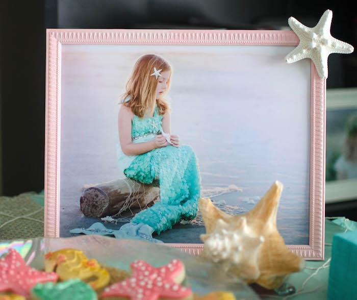 Framed Photo from a Magical Mermaid Birthday Party via Kara's Party Ideas! KarasPartyIdeas.com (20)