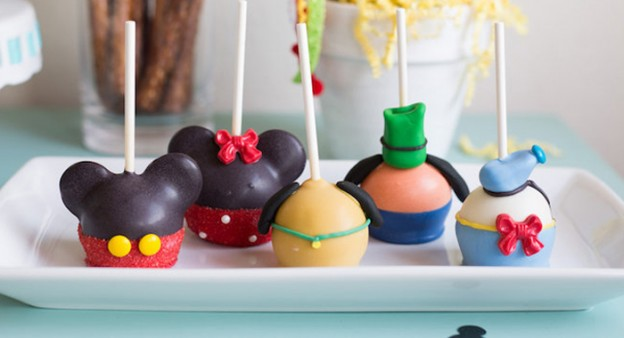 Mickey Mouse Character Cake Pops from a Mickey Mouse DIY Birthday Party via Kara's Party Ideas KarasPartyIdeas.com (2)
