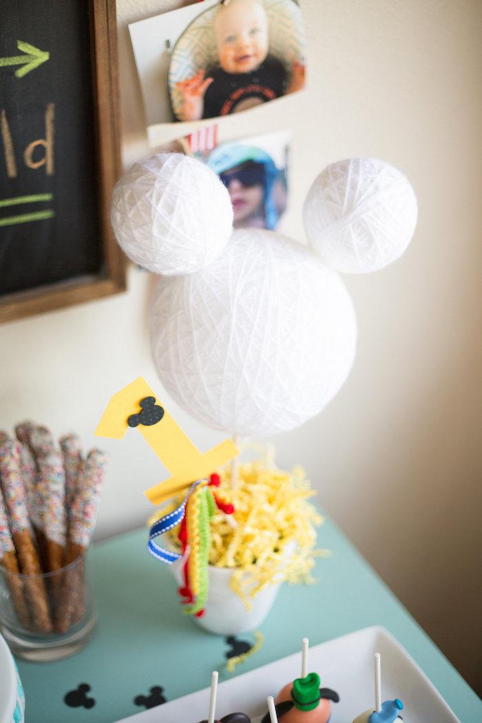 kara u0026 39 s party ideas styrofoam ball mickey mouse centerpiece