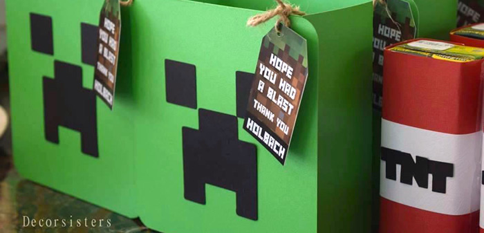 Kara S Party Ideas Detailed Minecraft Birthday Party