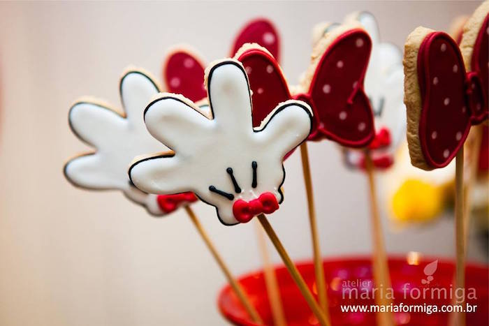 Cookies on Sticks from a Minnie Mouse Birthday Party via Kara's Party Ideas | KarasPartyIdeas.com (9)