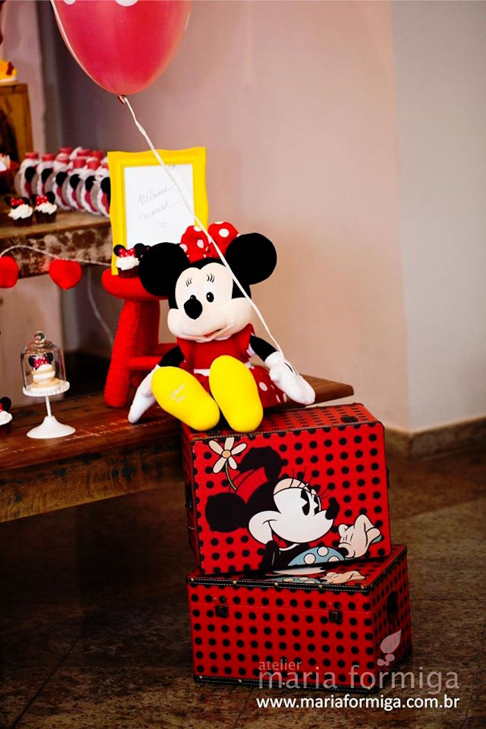Kara S Party Ideas Red White And Yellow Minnie Mouse