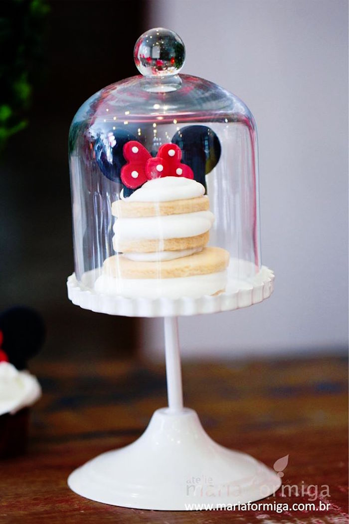 Karas Party Ideas Red White and Yellow Minnie Mouse Birthday Party