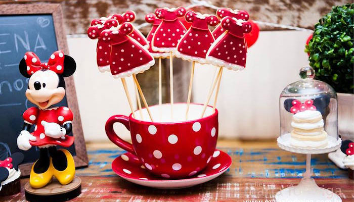 Decor + Sweets from a Minnie Mouse Birthday Party via Kara's Party Ideas | KarasPartyIdeas.com (2)