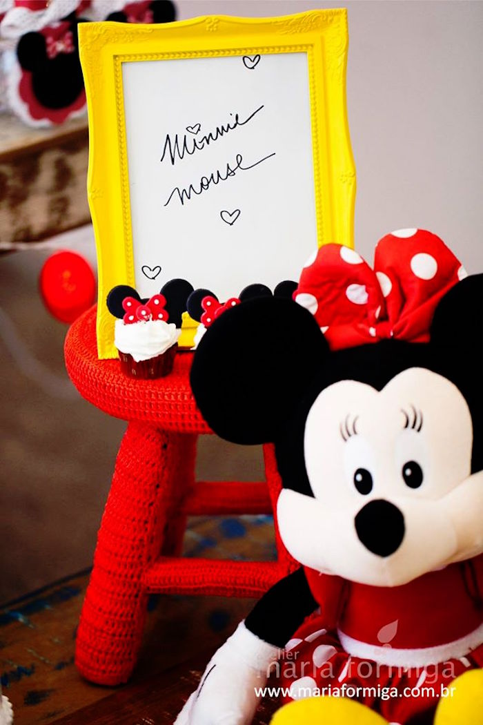 Mouse + Sign from a Minnie Mouse Birthday Party via Karas Party Ideas ...