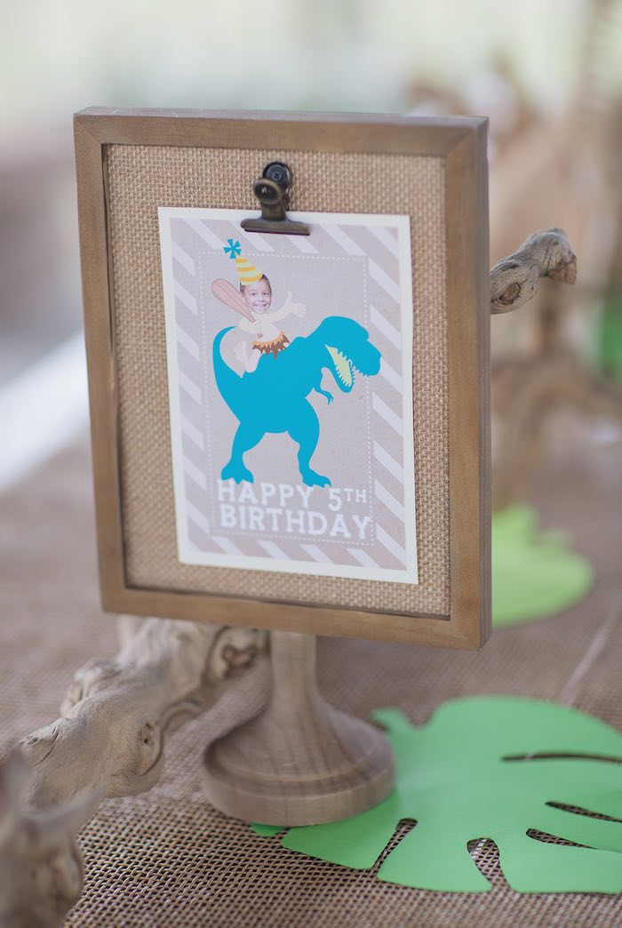 Sign from a Modern Dinosaur Birthday Party via Kara's Party Ideas KarasPartyIdeas.com (22)