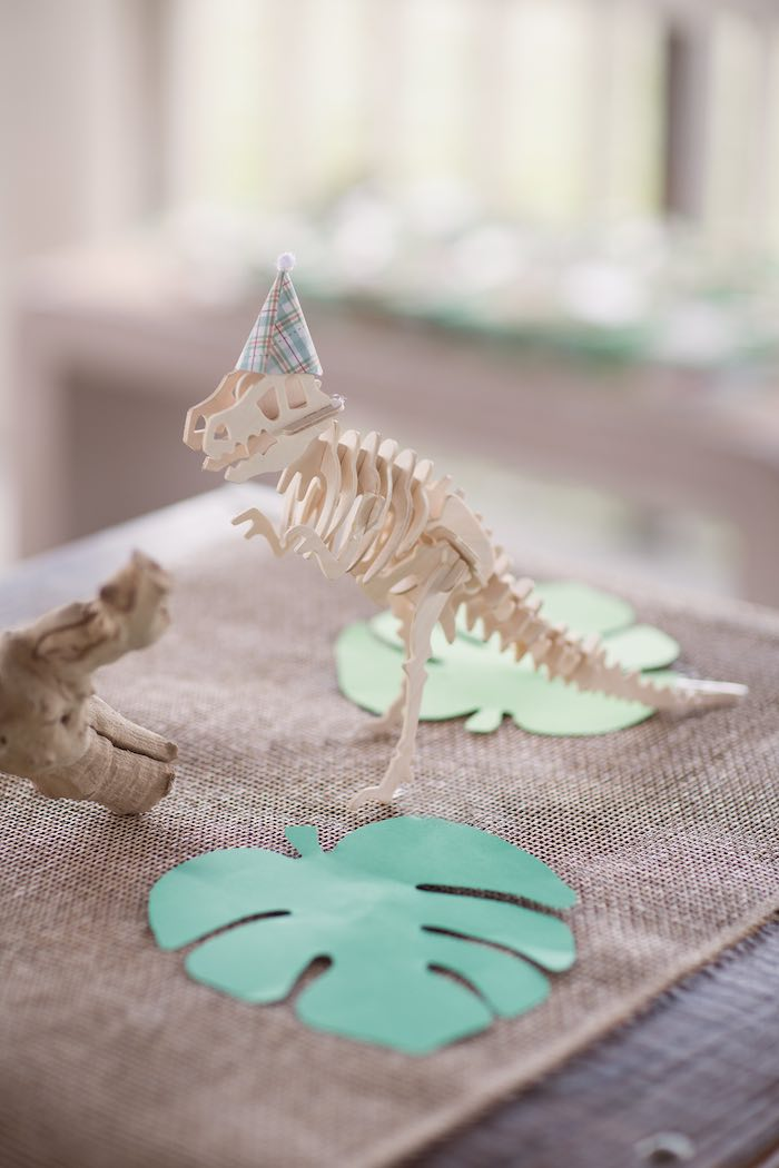 Centerpieces from a Modern Dinosaur Birthday Party via Kara's Party Ideas KarasPartyIdeas.com (20)