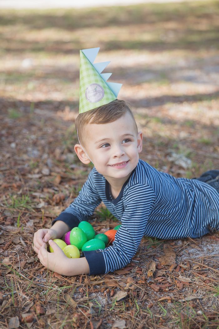 Little Boy from a Modern Dinosaur Birthday Party via Kara's Party Ideas KarasPartyIdeas.com (11)