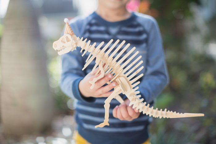 Dinosaur Skeleton from a Modern Dinosaur Birthday Party via Kara's Party Ideas KarasPartyIdeas.com (8)