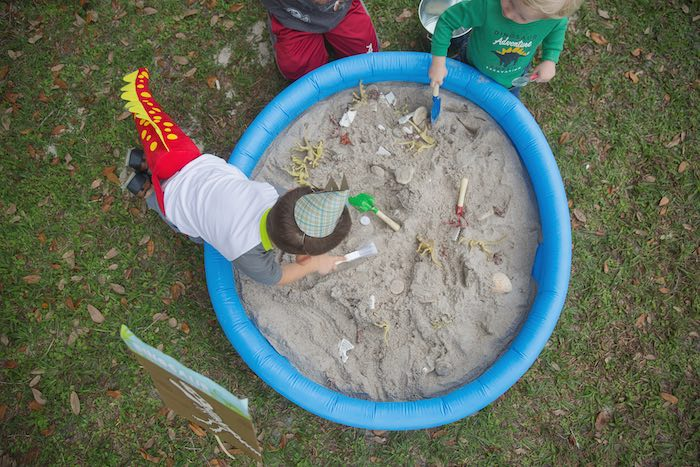 Dig Site from a Modern Dinosaur Birthday Party via Kara's Party Ideas KarasPartyIdeas.com (7)