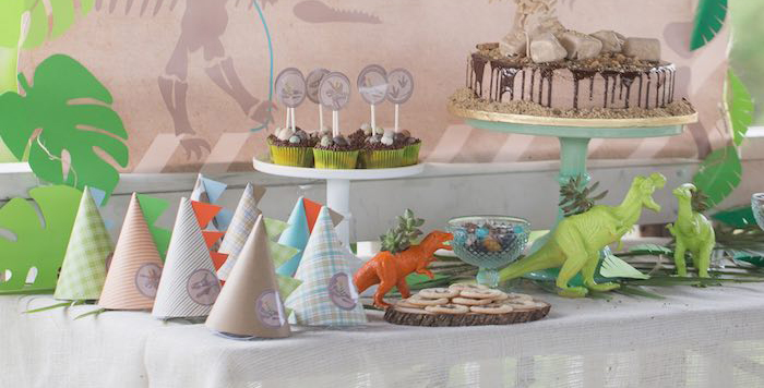 Sweet Table from a Modern Dinosaur Birthday Party via Kara's Party Ideas KarasPartyIdeas.com (4)