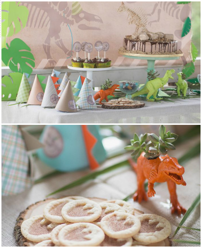 Modern Dinosaur Birthday Party via Kara's Party Ideas KarasPartyIdeas.com (1)
