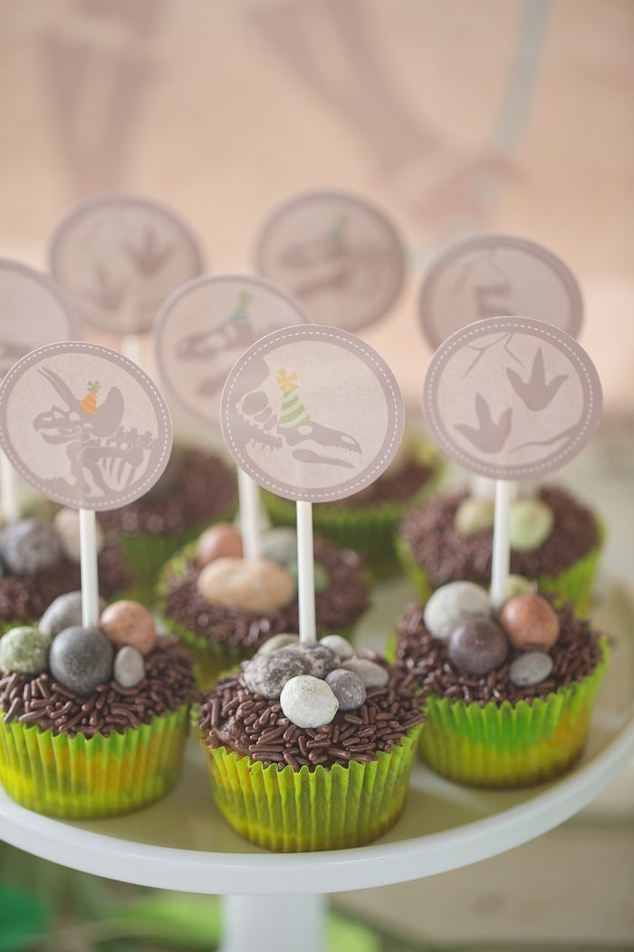 Dinosaur Birthday Party Cupcakes Image Inspiration of Cake and