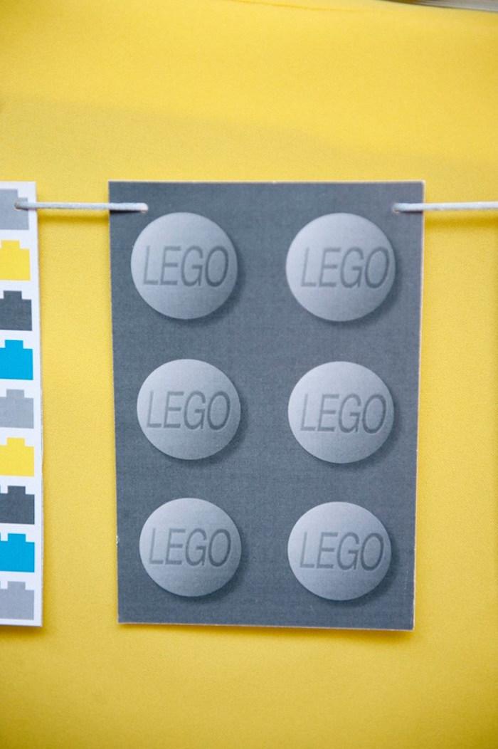 Lego Banner from a Modern Lego Themed Birthday Party via Kara's Party Ideas KarasPartyIdeas.com (19)