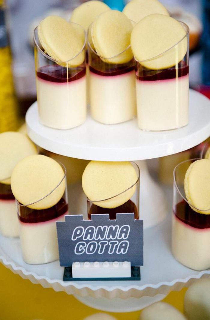 Panna Cotta Dessert Cups from a Modern Lego Themed Birthday Party via Kara's Party Ideas KarasPartyIdeas.com (17)