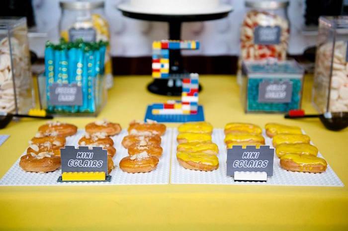 Mini Eclairs from a Modern Lego Themed Birthday Party via Kara's Party Ideas KarasPartyIdeas.com (16)